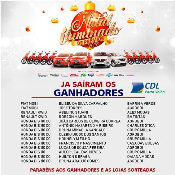 CDL divulga lista de ganhadores do Natal Iluminado de Prêmios - CDL ... aeda8a6532